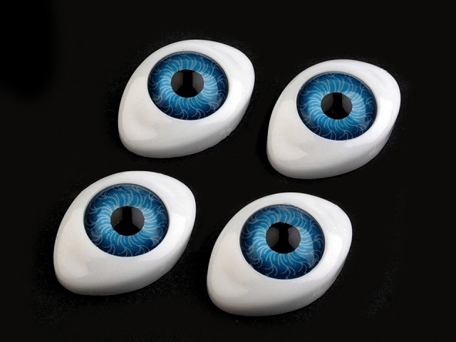 Oči nalepovacie 16x23 mm