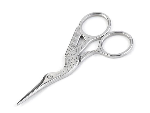 Nožnice vyšívacie bocián dĺžka 9 cm