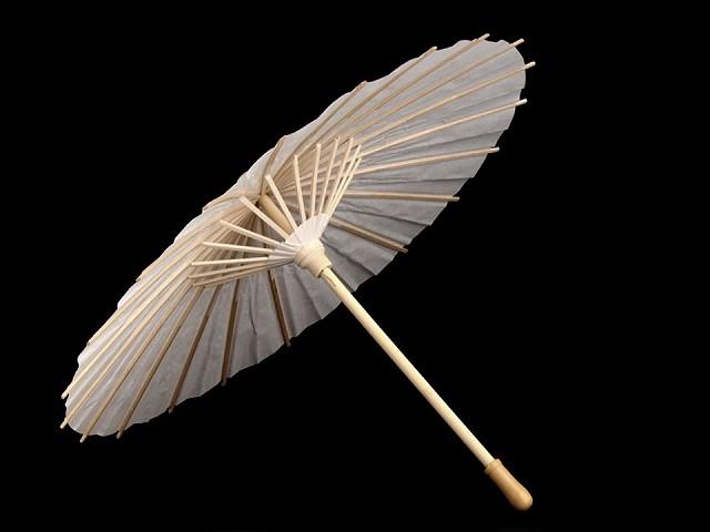 Dekorácia papierová dáždnik k domaľovaniu Ø38,5 cm