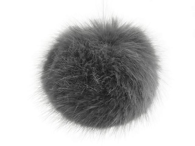 Kožušinový brmbolec Ø9 cm