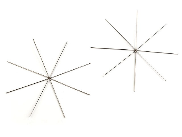 Hviezda / vločka drôtová šablóna Ø9 cm