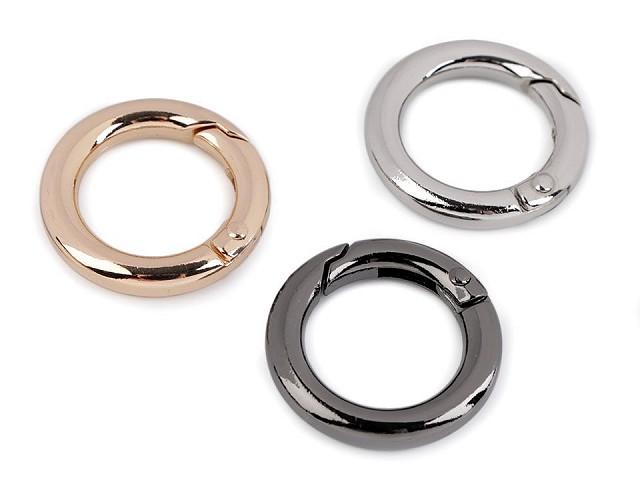 Karabiner Ring für Handtaschen / Schlüssel Ø18 mm