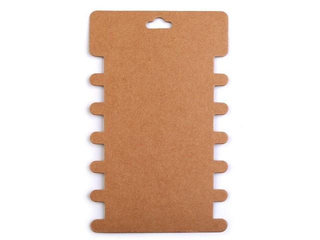 Papierkarte Wickelkarte mit Ausschnitten 8,6x14,4 cm