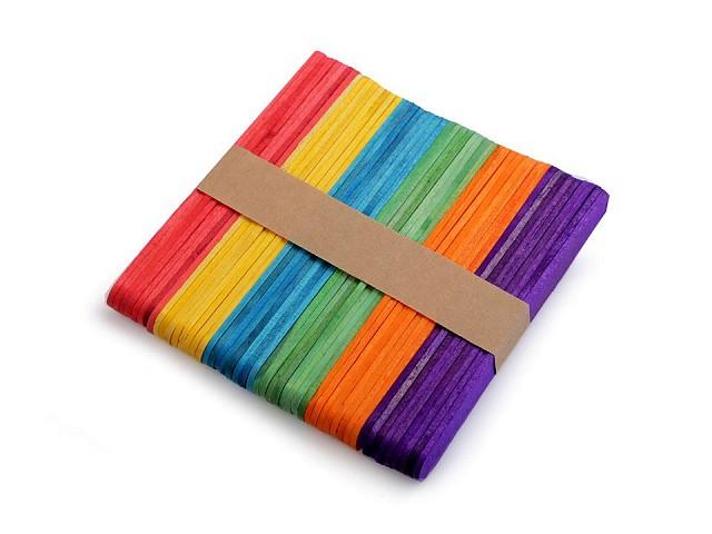 Drevené špachtle farebné 1x11,4 cm