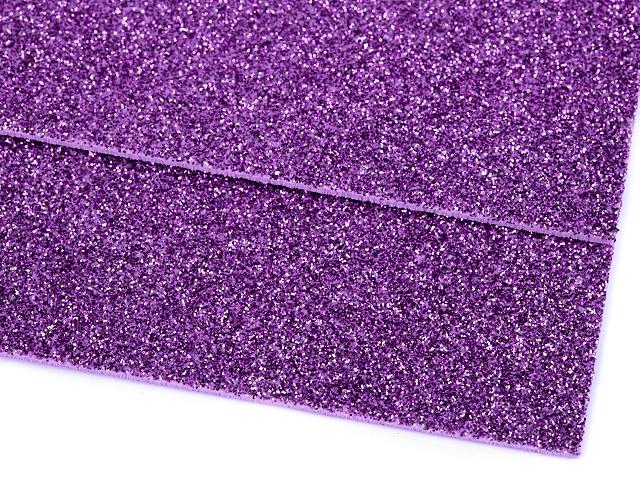 Pěnová guma Moosgummi s glitry 20x30 cm