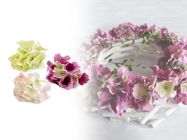 Umělé květy hortenzie