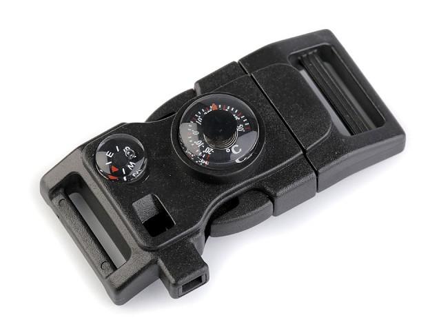 Spona trojzubec s píšťalkou a kompasom šírka 20 mm