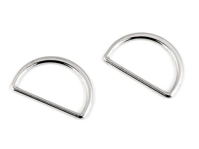 D-Ring Halbring Breite 25 mm flach waschbar
