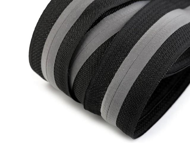 Zips špirálový krytý šírka 5 mm metráž reflexný