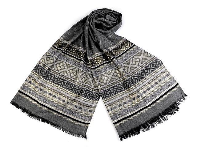 Šátek / šála s lurexem 65x175 cm