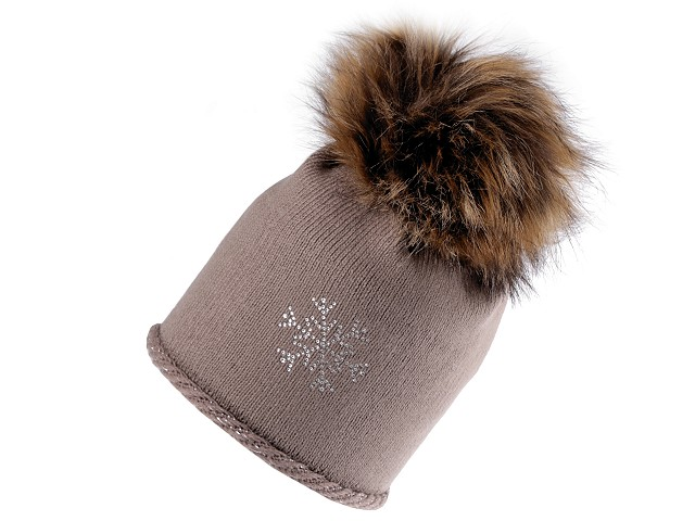 Dámska zimná čiapka s brmbolcom Capu