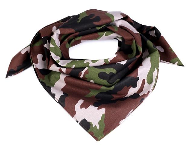 Bavlněný šátek maskáčový 65x65 cm