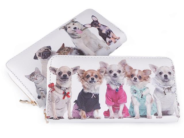 Dámska peňaženka pes, mačka 10x19 cm