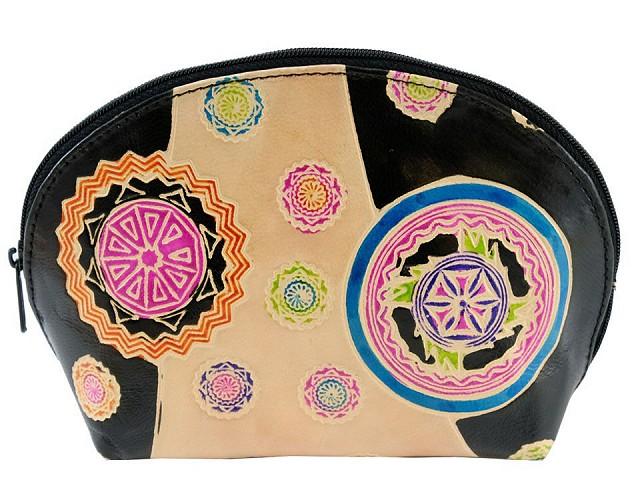 Puzdro / kozmetická taška kožená 12x18 cm