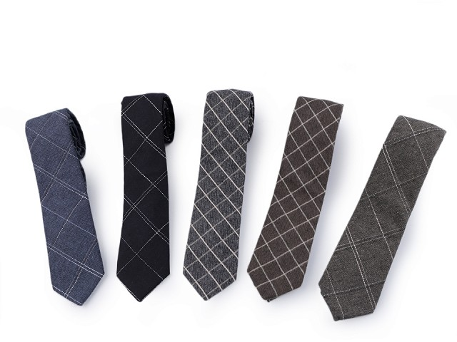 Bavlněná kravata károvaná