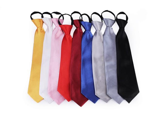 Krawat satynowy jednokolorowy