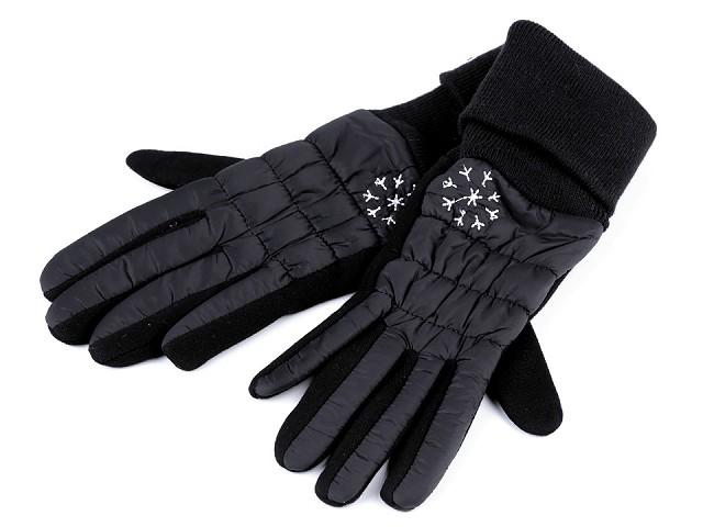 Dámske prošívané rukavice vločka