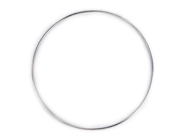 Kovový kruh pre lapač snov / na dekorovanie Ø25 cm