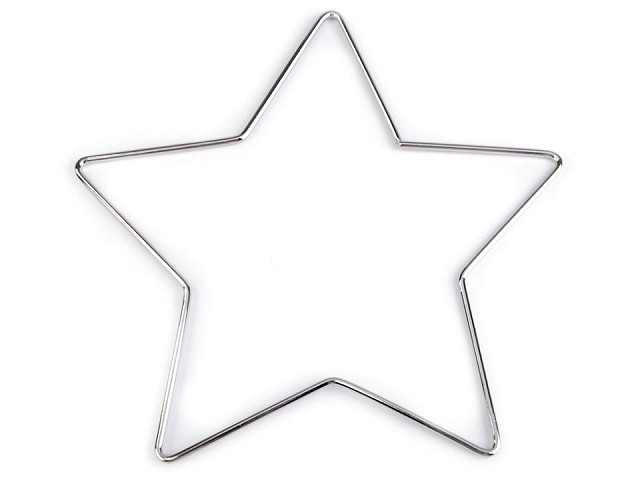 Kovová hvězda vánoční pro tvoření a lapače snů Ø20 cm