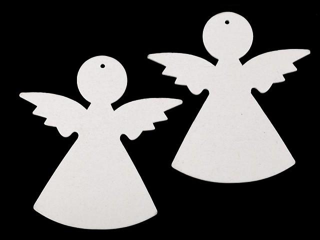 Drevený anjel na zavesenie / na nalepenie