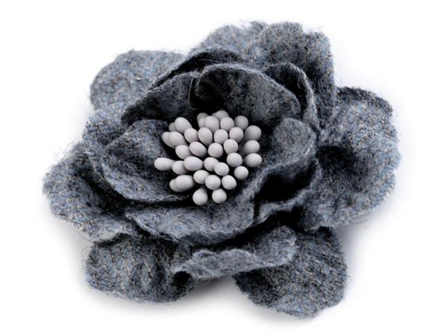 Vlnený kvet s piestikmi vo farbe kvetu Ø60 mm