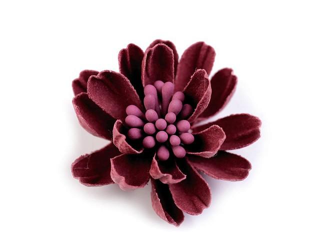 Kvet 3D s piestikmi vo farbe kvetu Ø33 mm