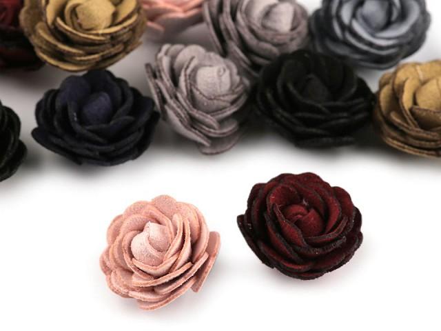 Květ růže Ø20 mm eko kůže
