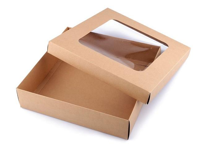 Dárková krabice s průhledem
