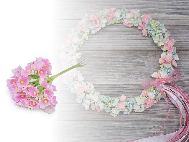 Kvet na drôtiku / polotovar na aranžovanie Ø25 mm