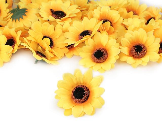 Umelý kvet slunečnica Ø75 mm