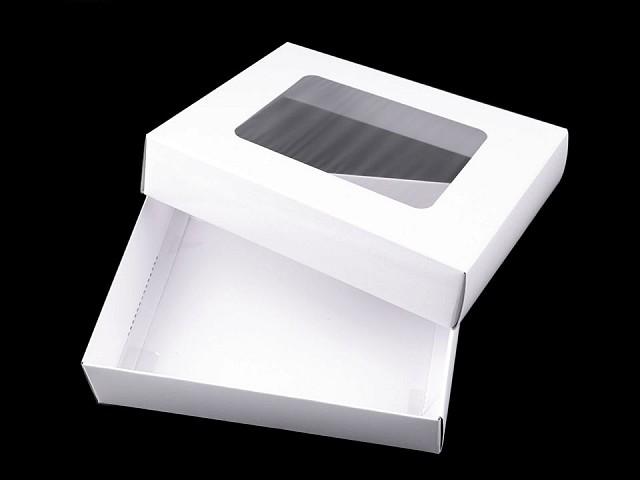Papír doboz átlátszó tetővel