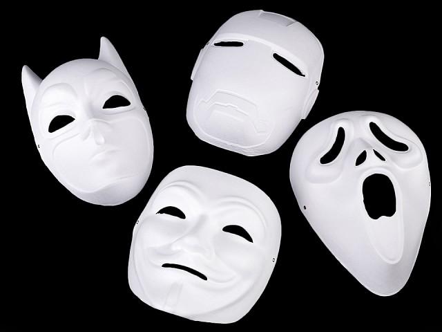 Karnevalová maska - škraboška na domaľovanie
