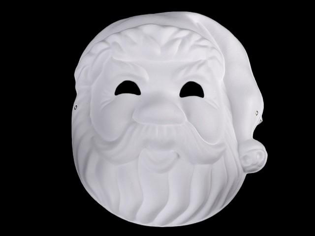 Maska na tvár na domaľovanie dyňa, Santa