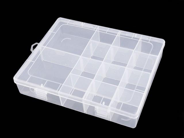 Plastový box / zásobník 4x17x21 cm