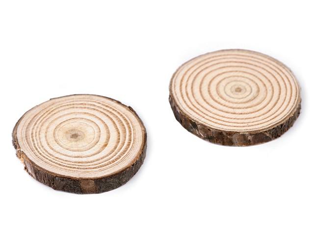 Prírodné drevené koliesko na domaľovanie