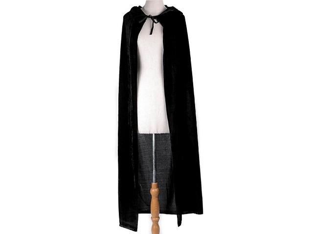 Karnevalový zamatový plášť s kapucou
