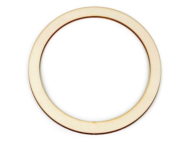 Dřevěný kruh na lapač snů / k dekorování Ø18 cm