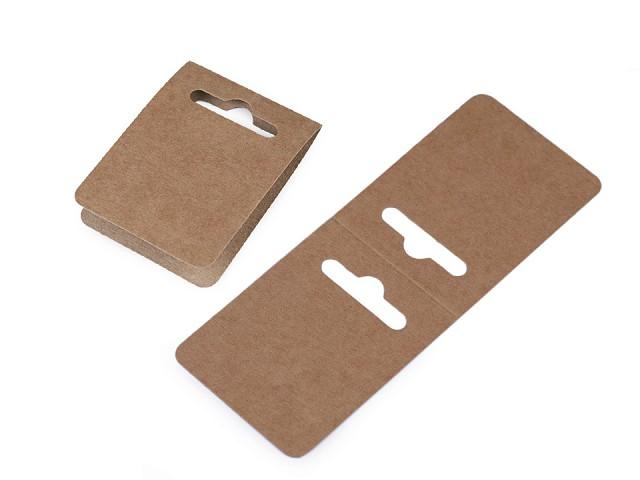 Papírové závěsky na bižuterii 50x130 mm