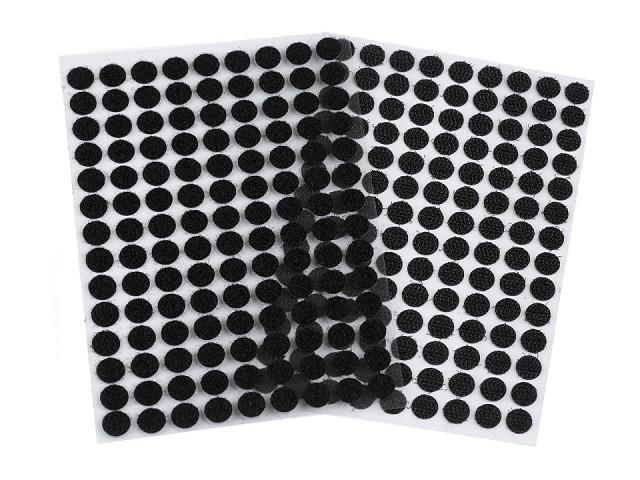 Suchý zip samolepicí kolečka Ø10 mm