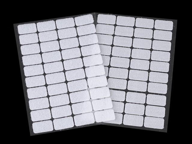 Suchý zips samolepiaci obdľžnik 15x25 mm