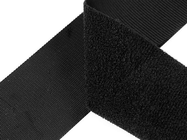 Nízkoprofilový suchý zip háček + plyš šíře 10 cm