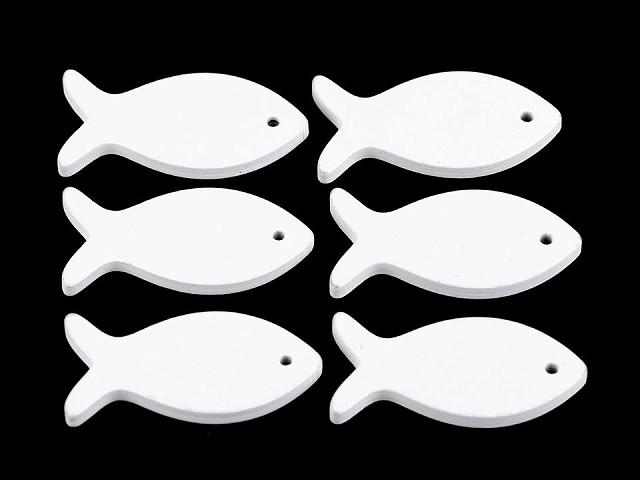 Dřevěná ryba k zavěšení / k nalepení / k domalování