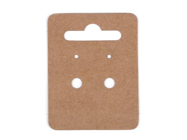 Papierová karta na náušnice 50x65 mm