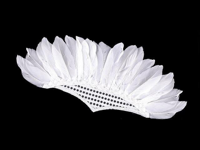 Karnevalová čelenka s perím