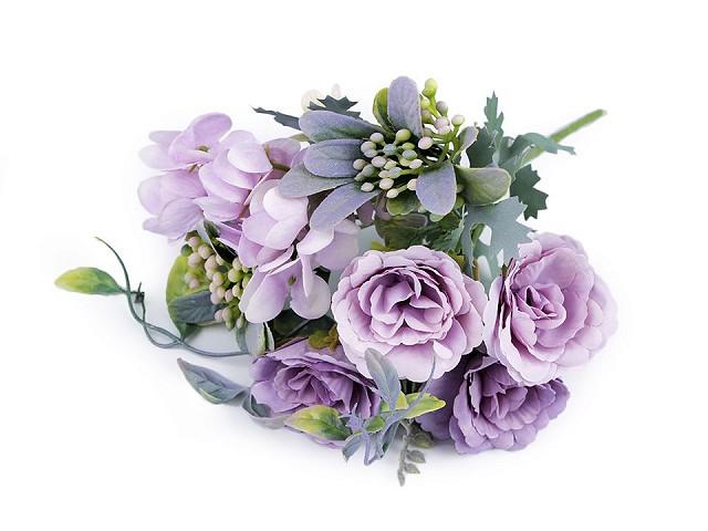 Umělé kytice růže, hortenzie
