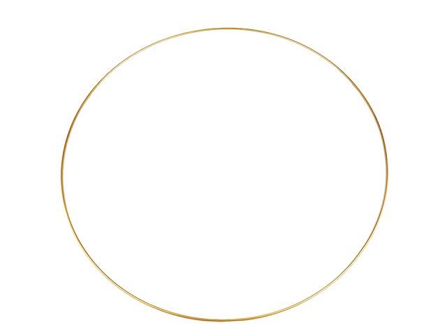 Kovový kruh na lapač snov / na dekorovanie Ø60 cm