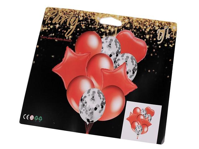 Aufblasbare Luftballons mit Konfetti - Set
