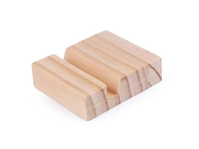 Dřevěný stojánek na kruh 6x7 cm