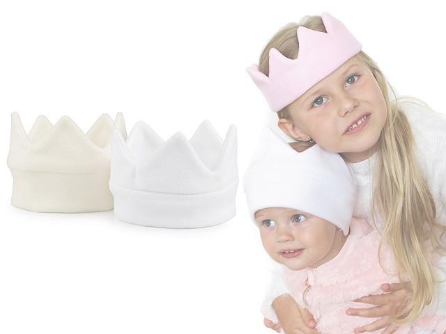 Dětská čepice fleece - korunka s lemem