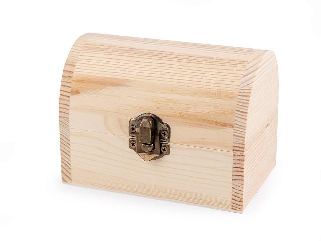 Drevená krabička na dozdobenie truhla